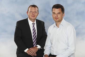 Venstre: Lars Løkke Rasmussen og Jan E. Jørgensen